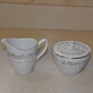 Mikasa Fine China Creamer and Sugar Bowl Set